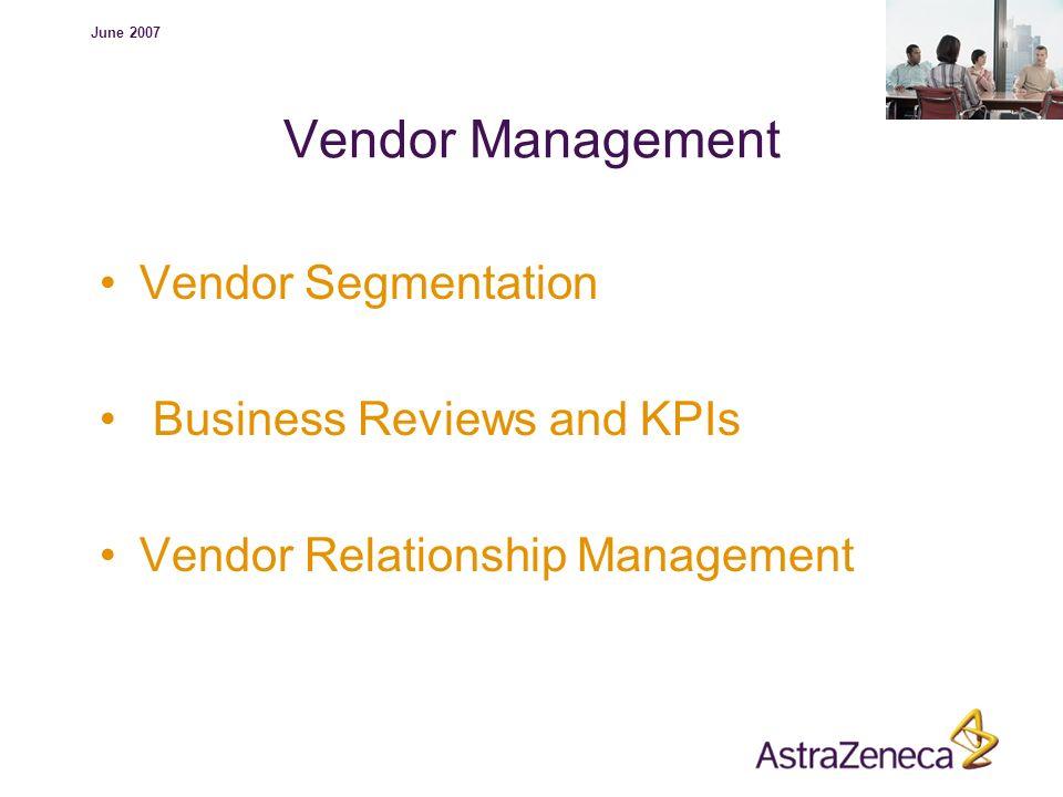 Vendor Management Vendor Segmentation Business Reviews and KPIs