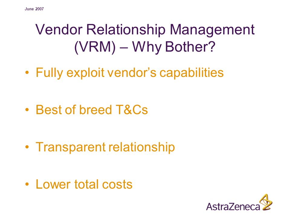 Vendor Relationship Management (VRM) – Why Bother