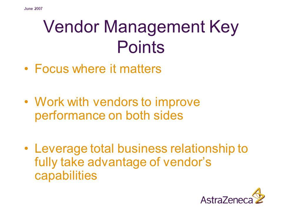 Vendor Management Key Points