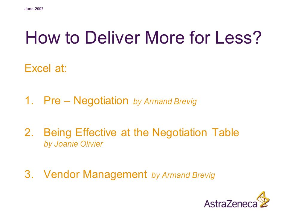 How to Deliver More for Less