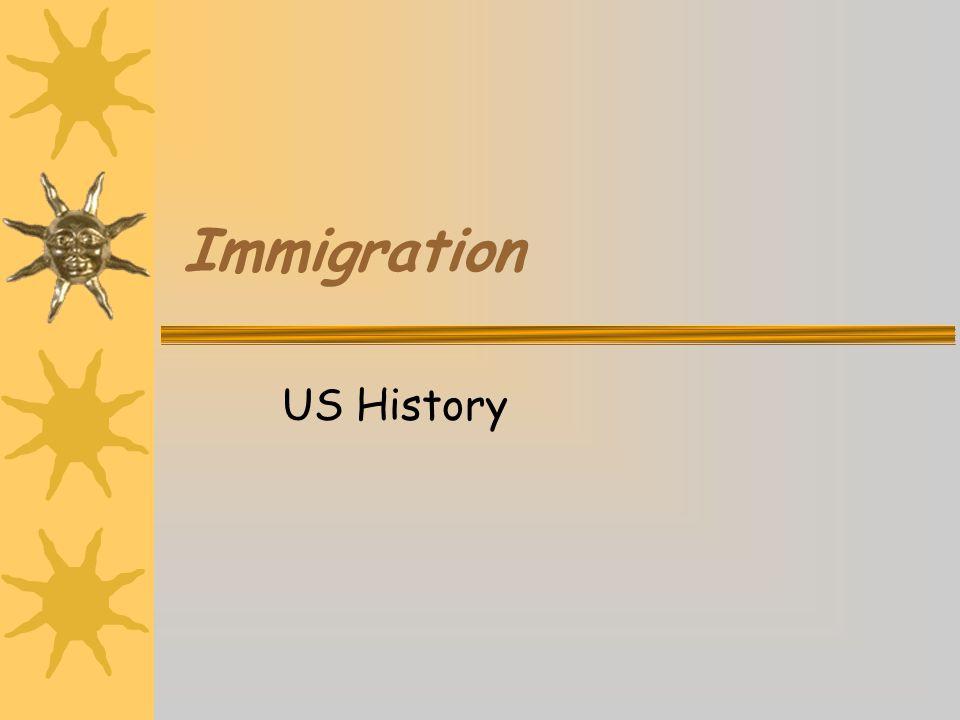 Immigration US History