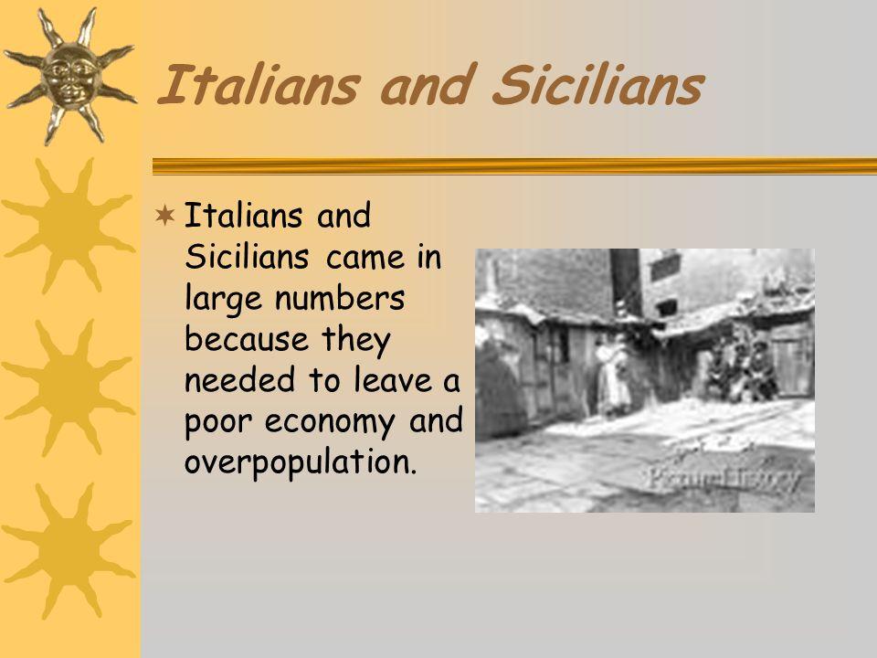 Italians and Sicilians