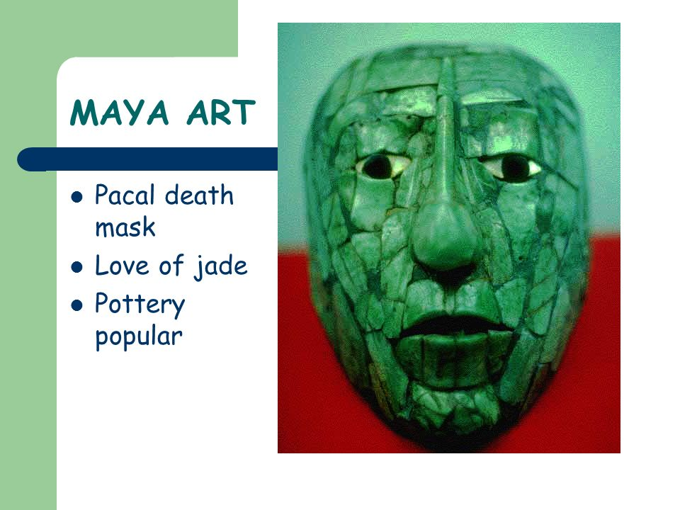 MAYA ART Pacal death mask Love of jade Pottery popular