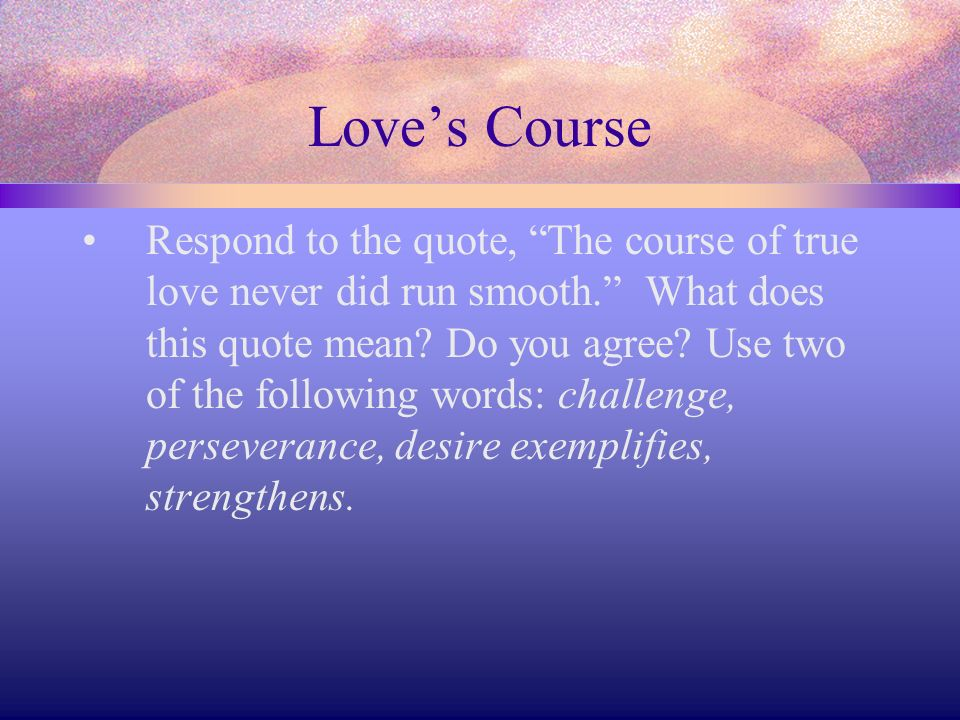 Love's Course