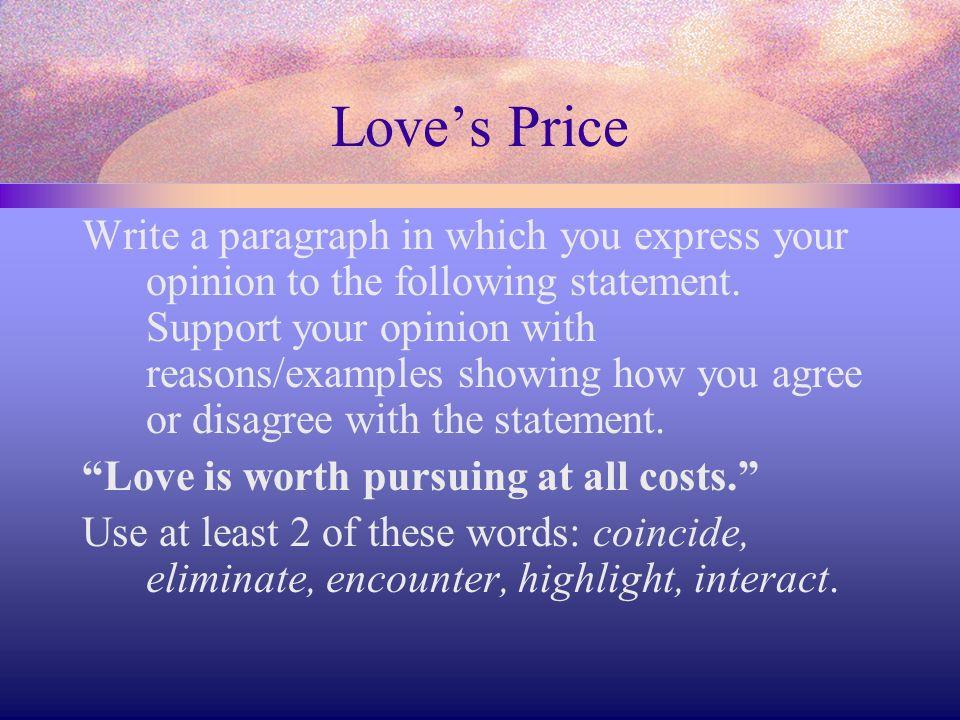 Love's Price