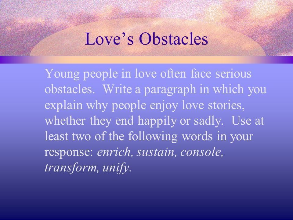 Love's Obstacles