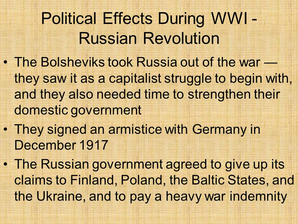 the cause and effect of the russian revolution