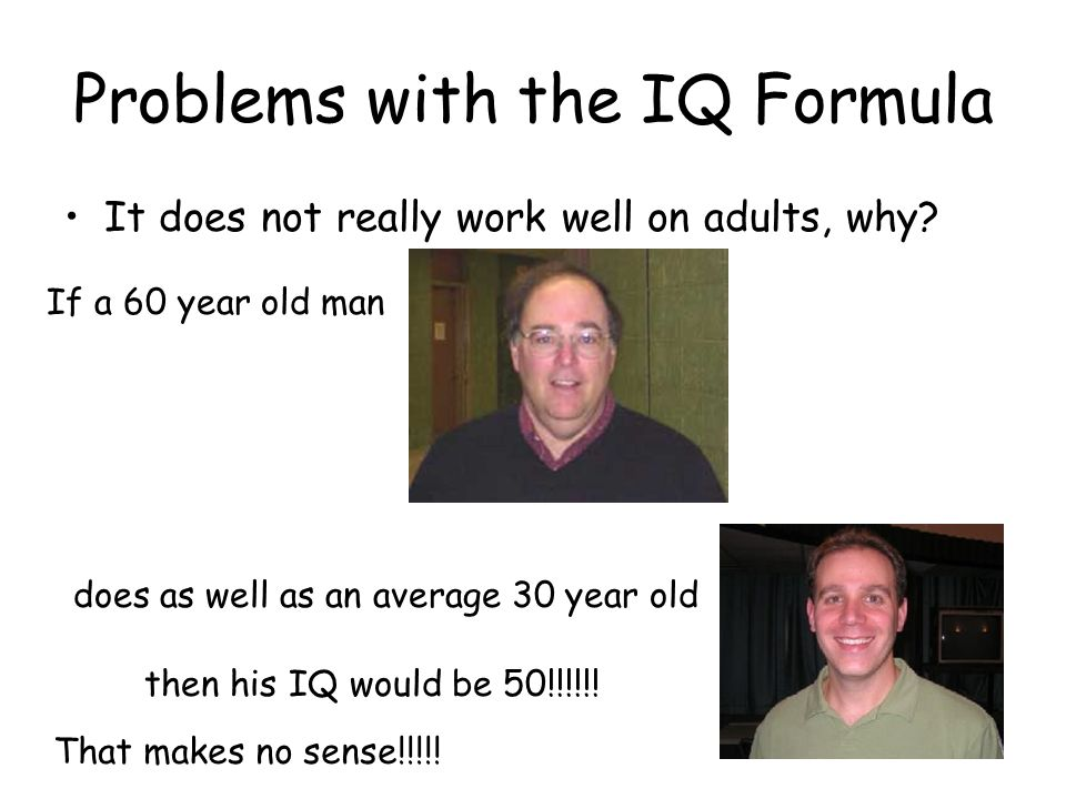 Problems with the IQ Formula