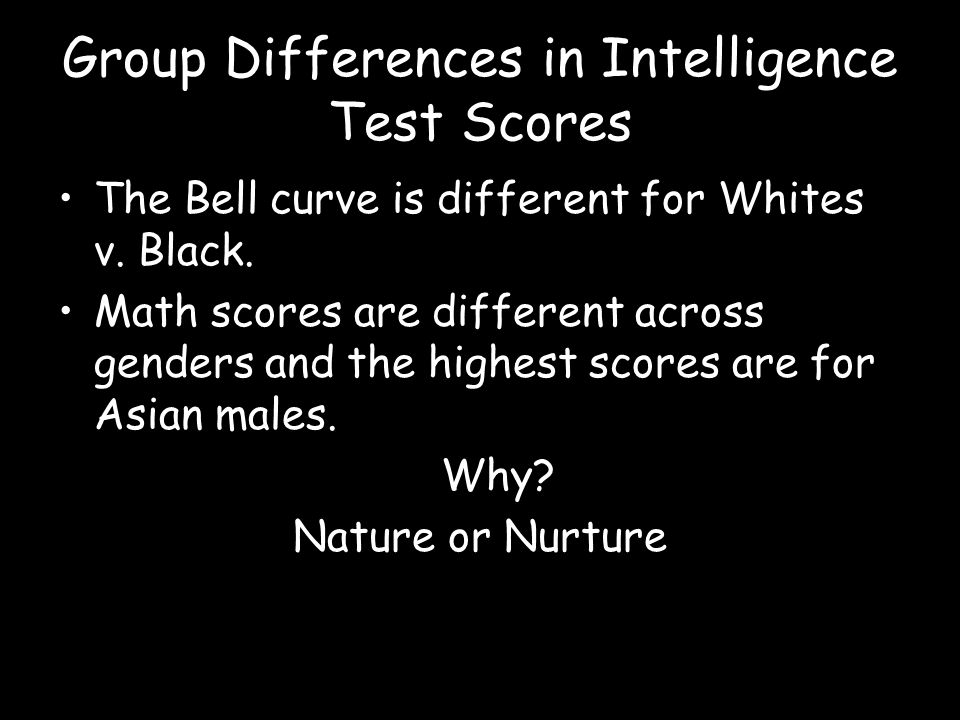 Group Differences in Intelligence Test Scores