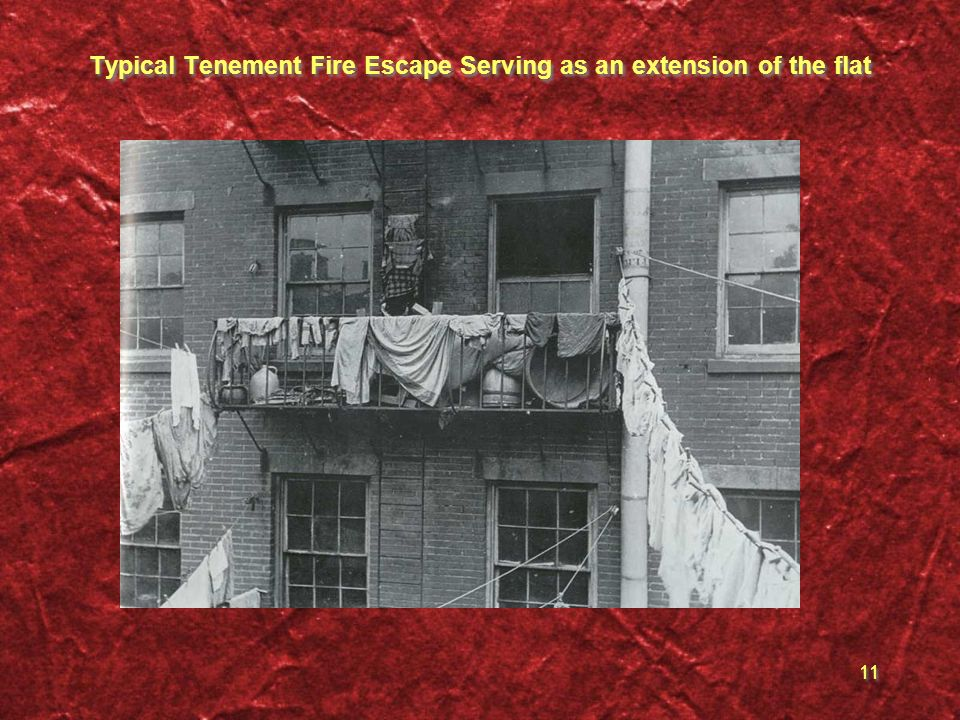 Typical Tenement Fire Escape Serving as an extension of the flat