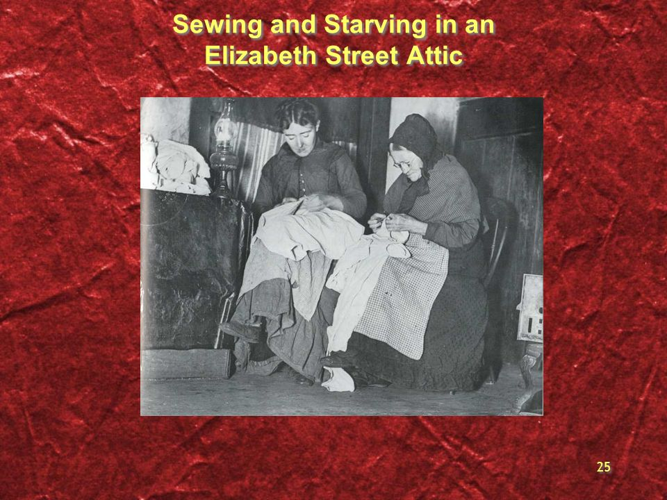 Sewing and Starving in an Elizabeth Street Attic