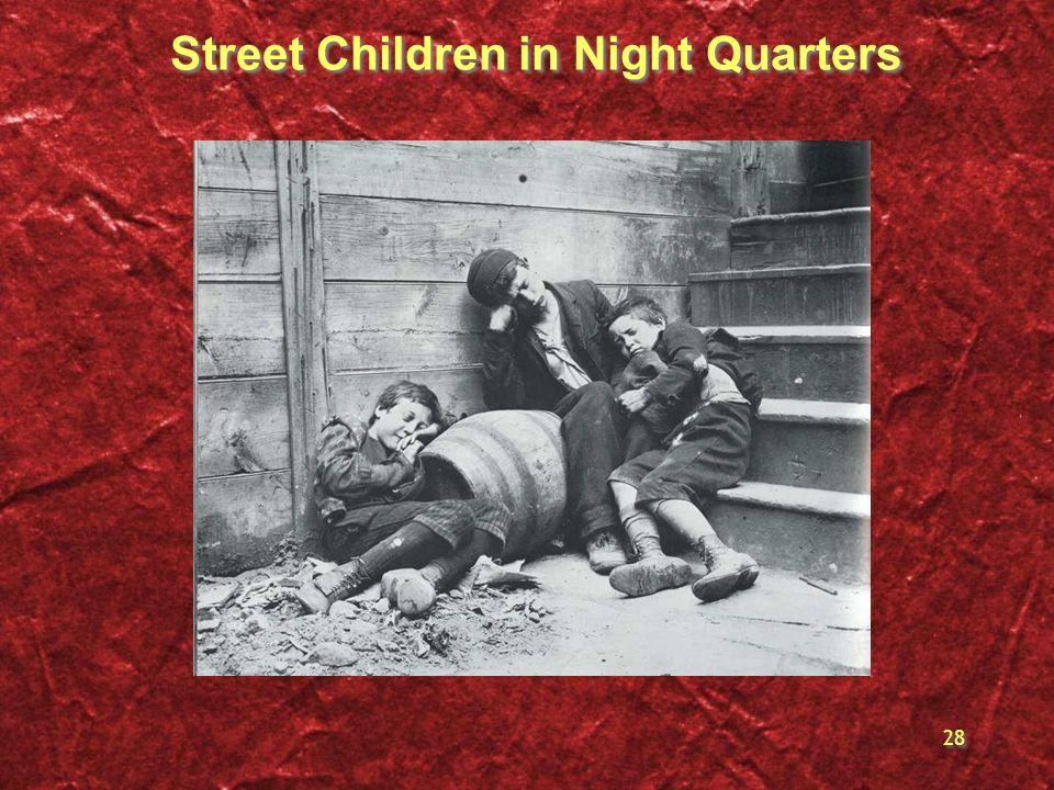 Street Children in Night Quarters