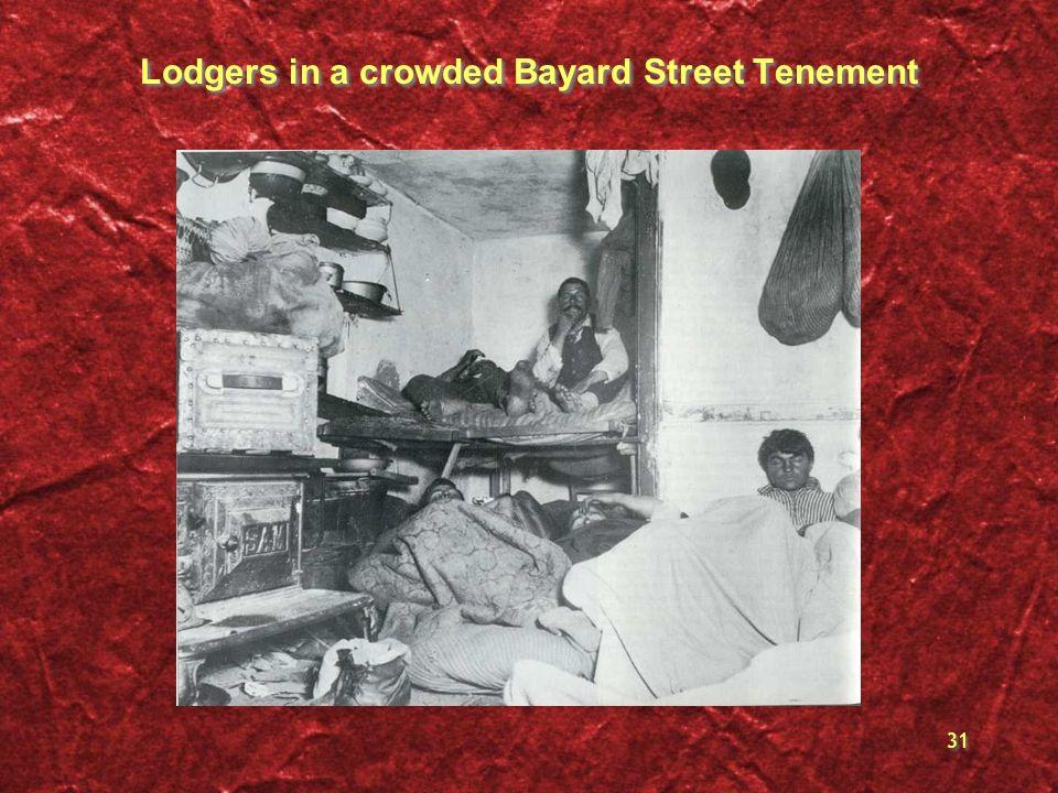 Lodgers in a crowded Bayard Street Tenement