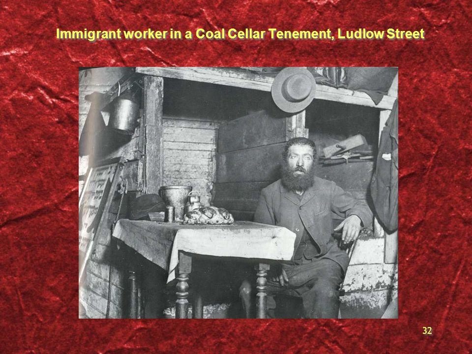 Immigrant worker in a Coal Cellar Tenement, Ludlow Street