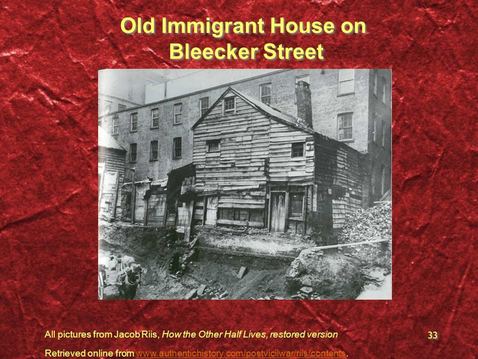 Old Immigrant House on Bleecker Street
