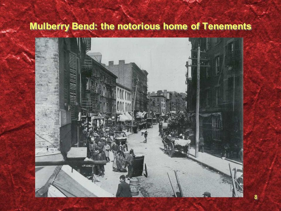 Mulberry Bend: the notorious home of Tenements