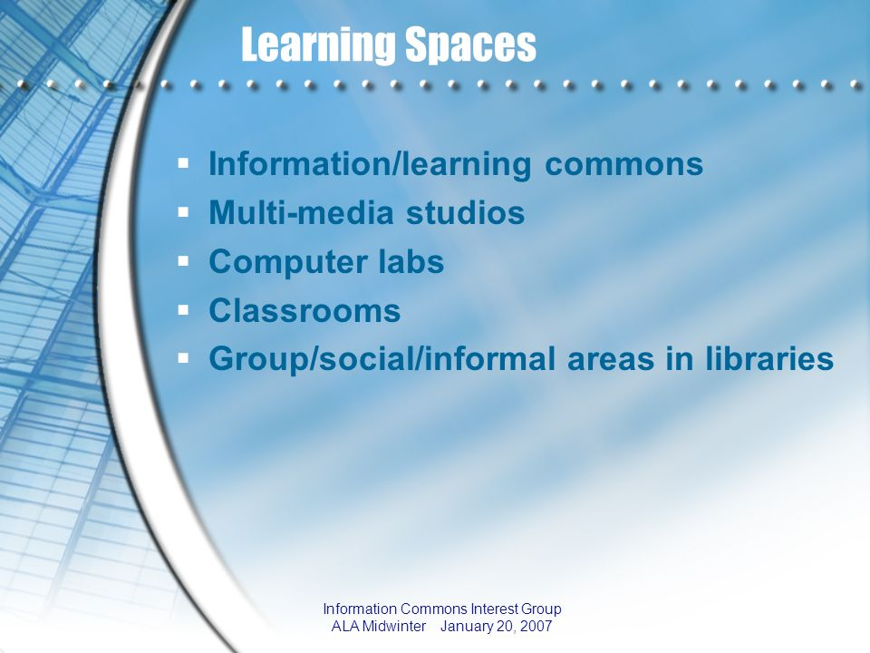 Information Commons Interest Group