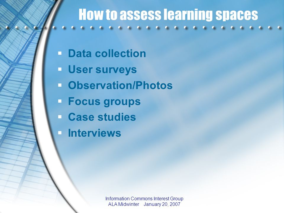 How to assess learning spaces