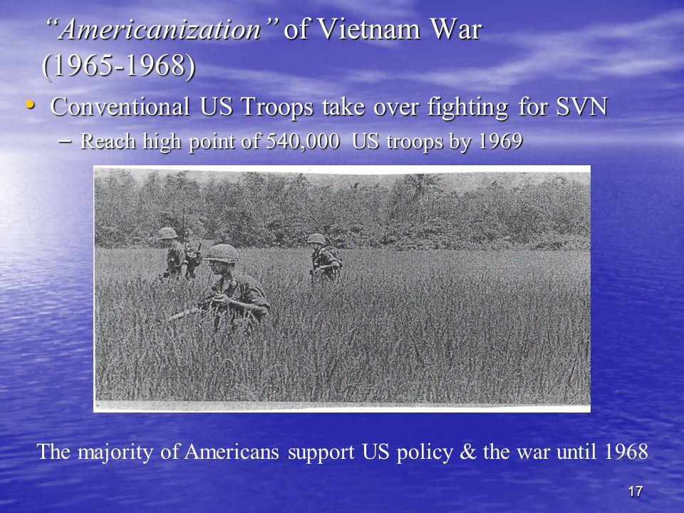 Americanization of Vietnam War (1965-1968)