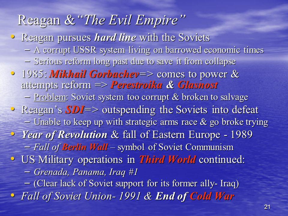 Reagan & The Evil Empire