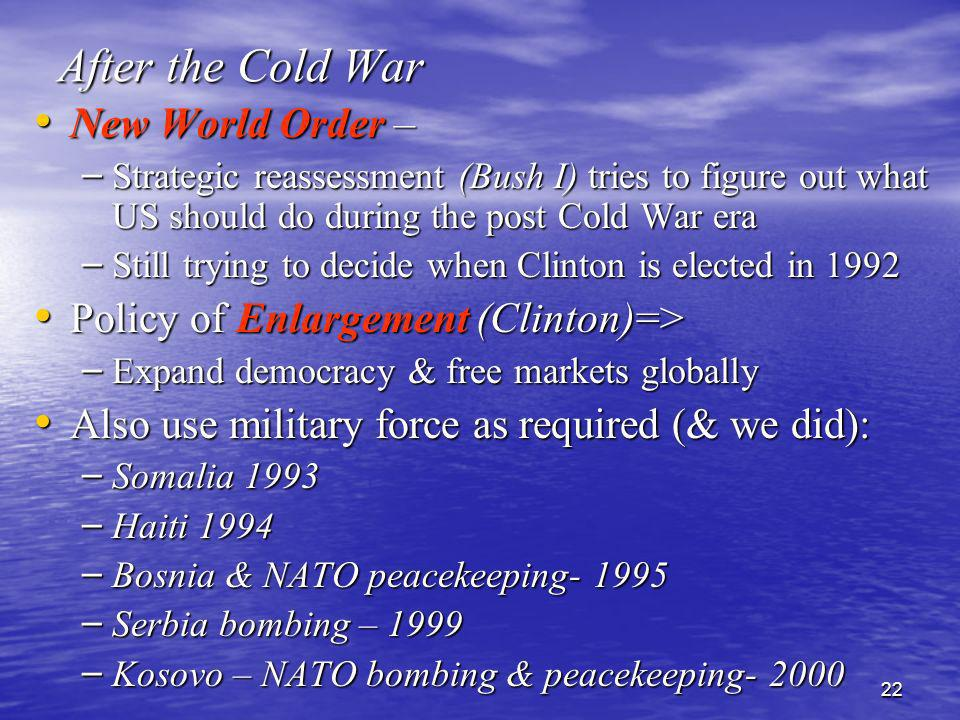 After the Cold War New World Order –
