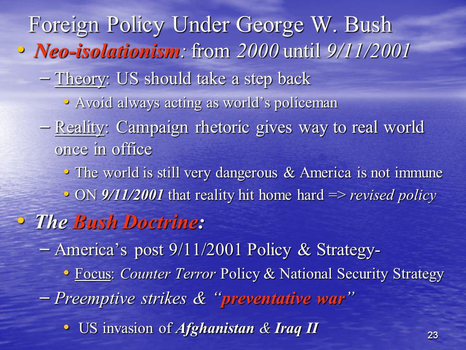 Foreign Policy Under George W. Bush