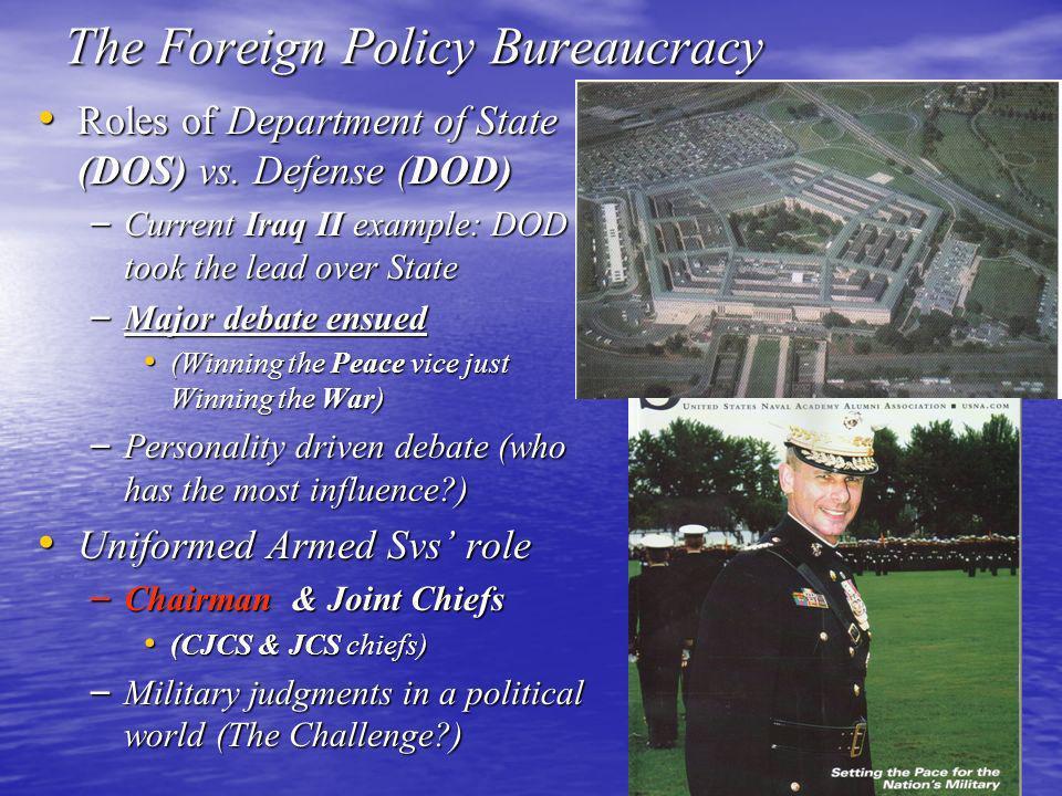 The Foreign Policy Bureaucracy