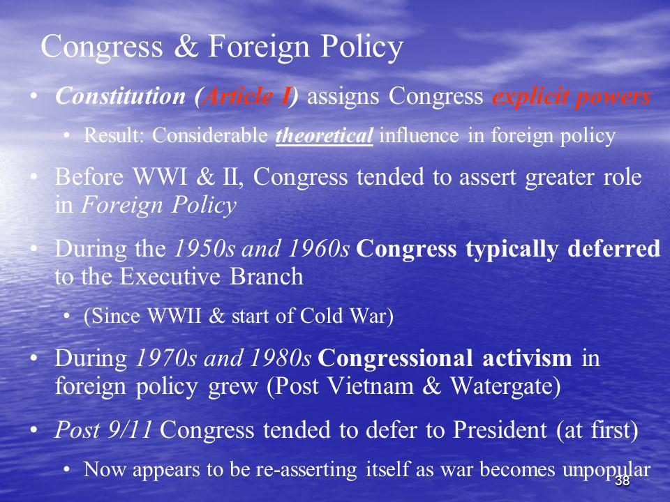 Congress & Foreign Policy