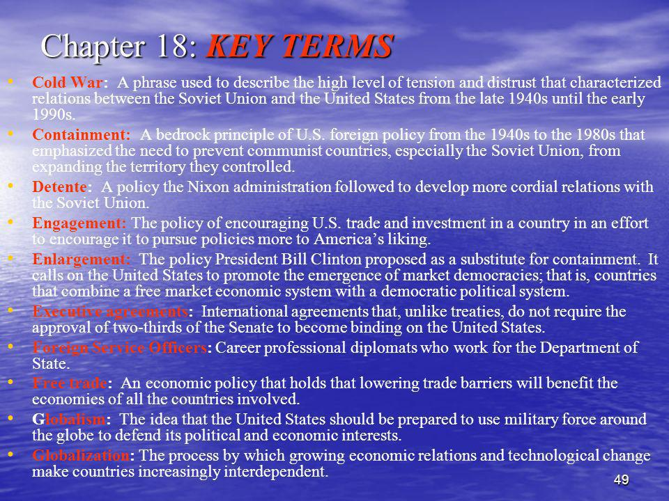 Chapter 18: KEY TERMS