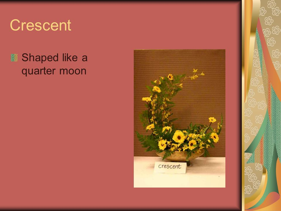 Crescent Shaped like a quarter moon
