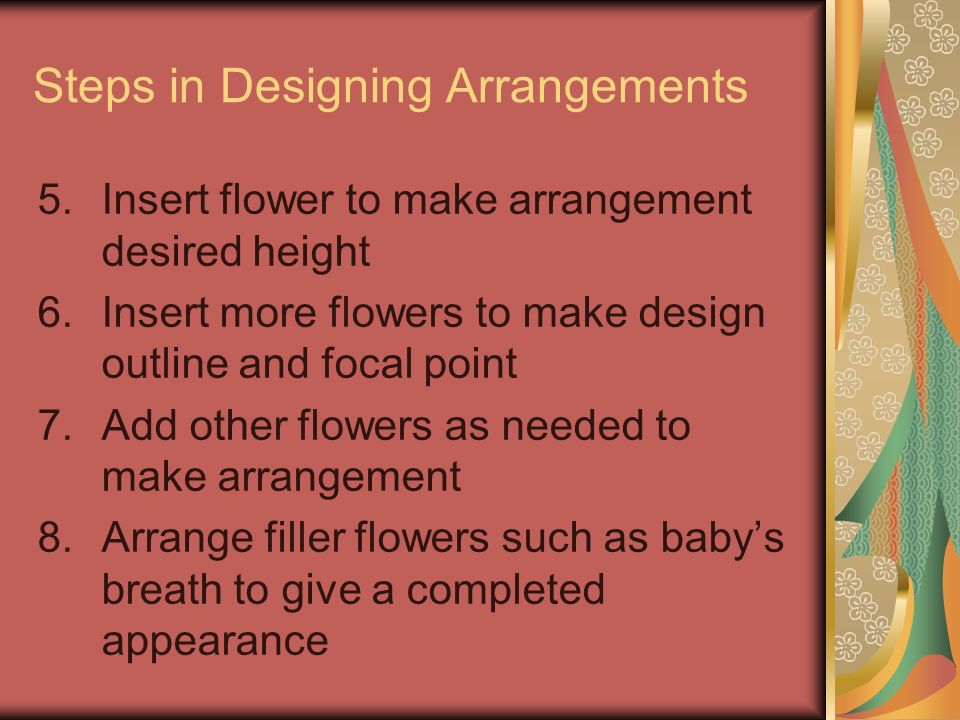 Steps in Designing Arrangements