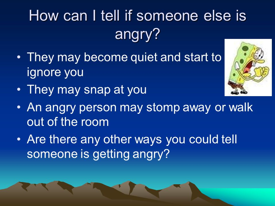 How can I tell if someone else is angry
