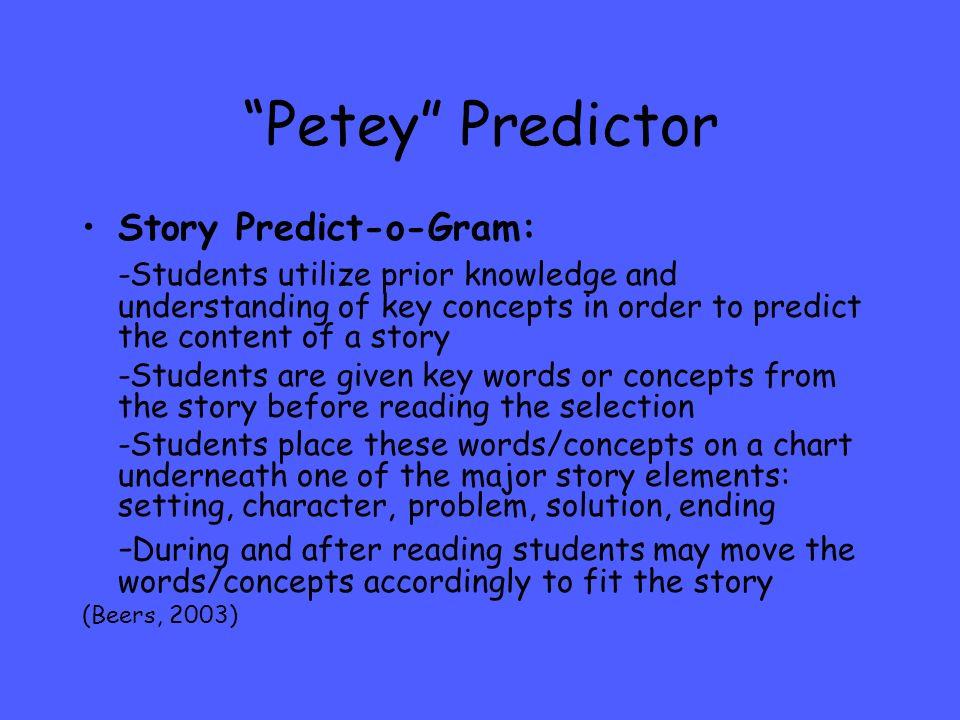 Petey Predictor Story Predict-o-Gram: