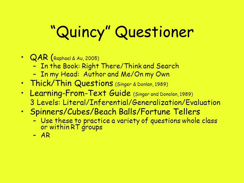 Quincy Questioner QAR (Raphael & Au, 2005)