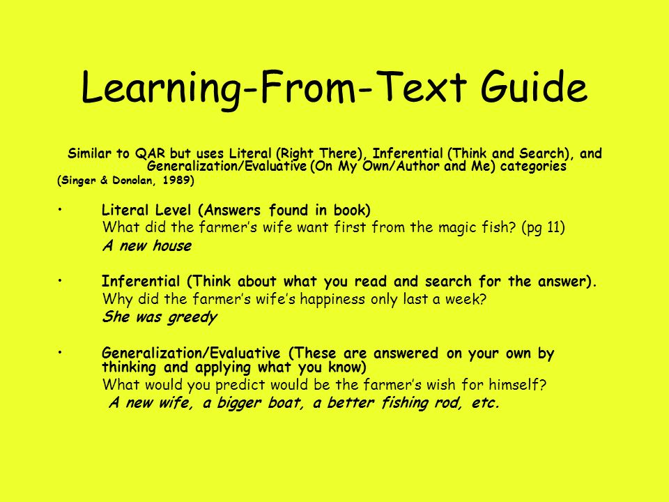 Learning-From-Text Guide