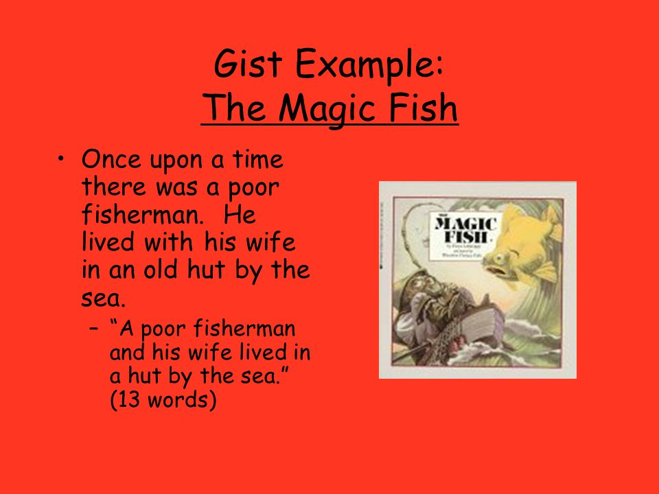 Gist Example: The Magic Fish