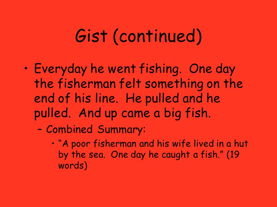 Gist (continued)