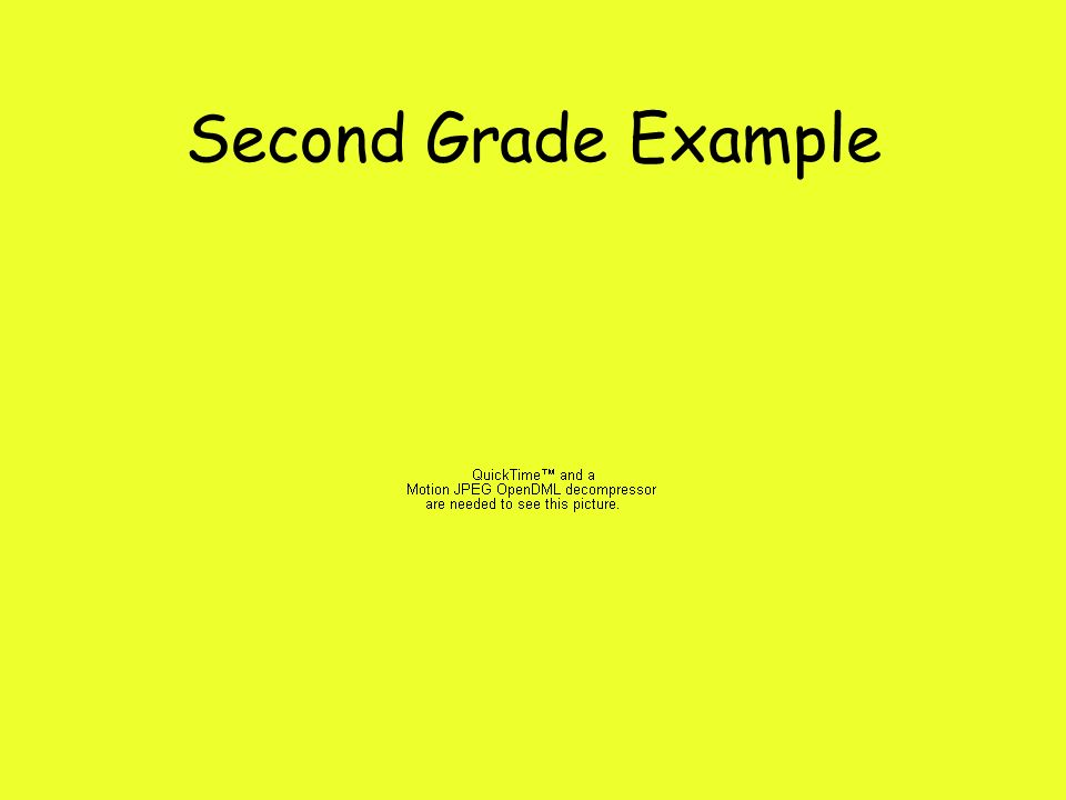 Second Grade Example