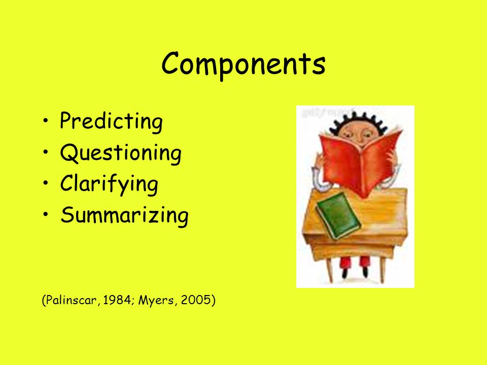 Components Predicting Questioning Clarifying Summarizing