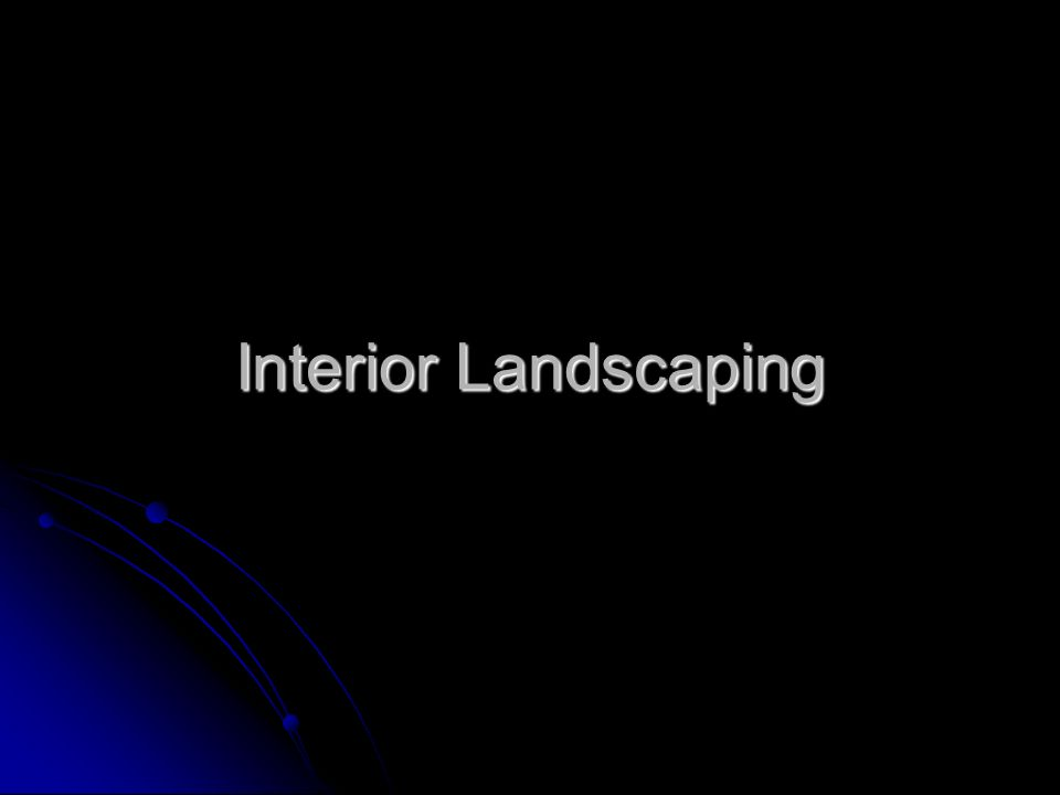 Interior Landscaping