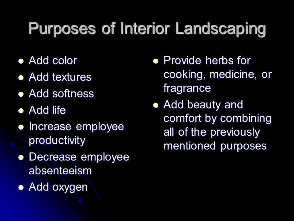 Purposes of Interior Landscaping