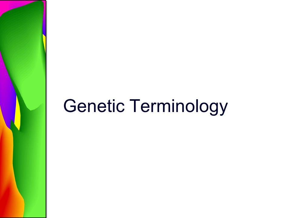 Genetic Terminology