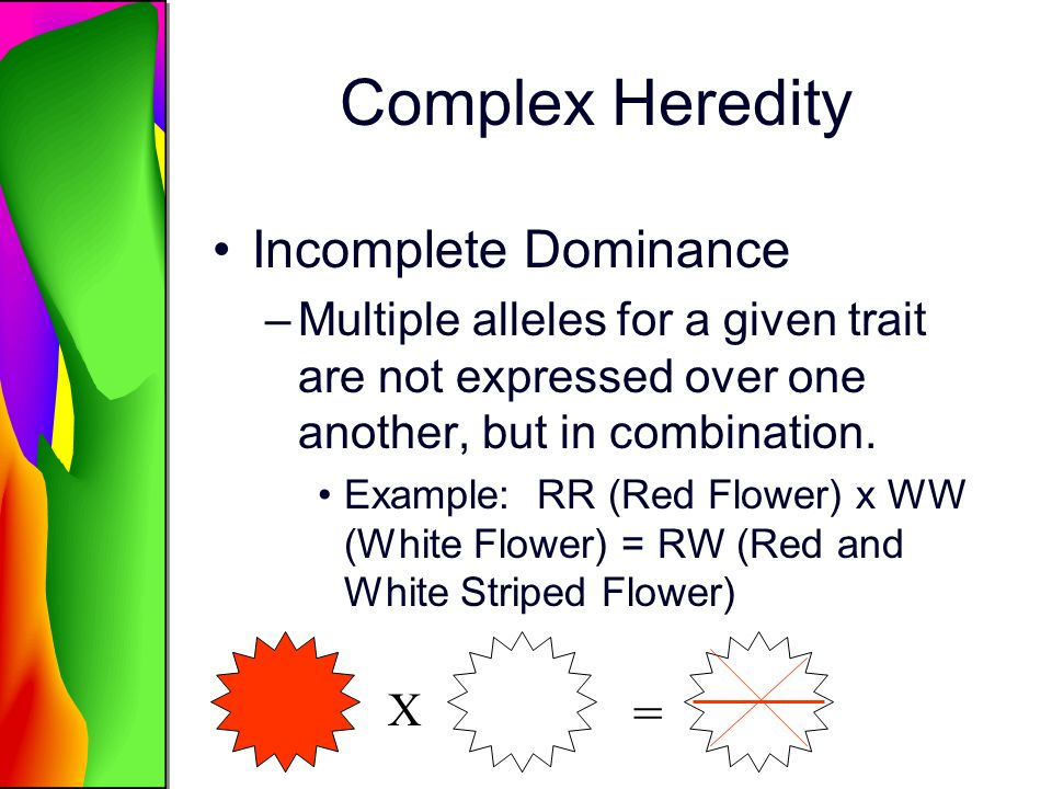 Complex Heredity Incomplete Dominance =