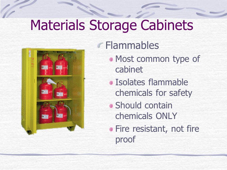 Materials Storage Cabinets