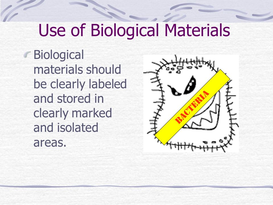 Use of Biological Materials