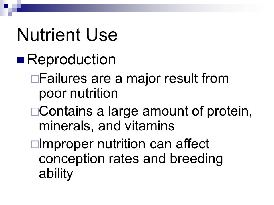 Nutrient Use Reproduction