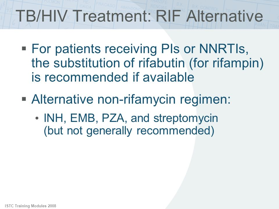TB/HIV Treatment: RIF Alternative