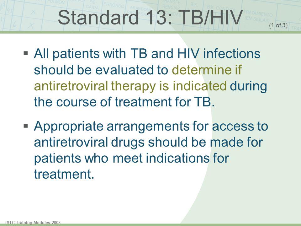 Standard 13: TB/HIV (1 of 3)