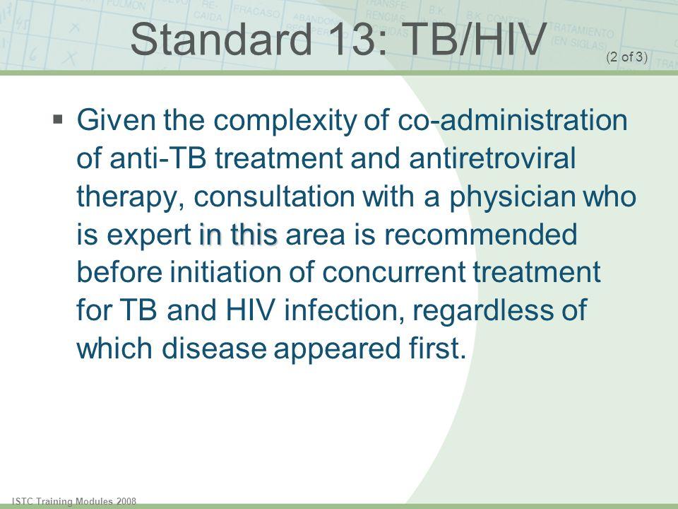 Standard 13: TB/HIV (2 of 3)