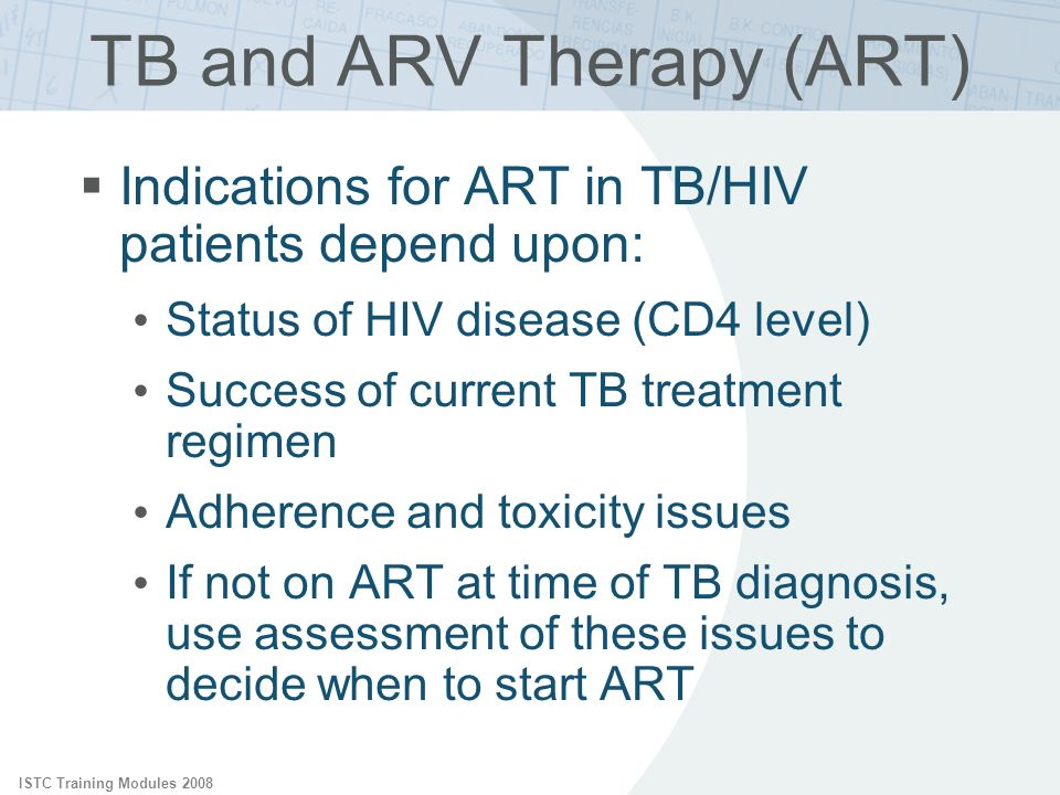 TB and ARV Therapy (ART)